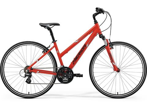 MERIDA CROSSWAY 10-V Lady Matt Red(White/Black) 2018