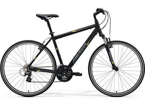 MERIDA CROSSWAY 15-V Matt Black(Yellow/Grey) 2018