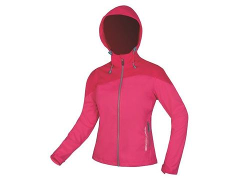 Dámská Bunda Endura SingleTrack Softshell II raspberry