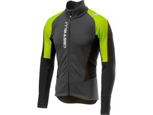 Castelli - pánská bunda Mortirolo V, dark grey/yellow fluo