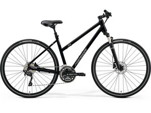Merida CROSSWAY 300-LADY Glossy Black(Matt Silver) 2021