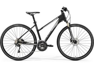 MERIDA CROSSWAY XT-EDITION Lady Matt Black(Shiny Silver) 2019