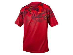 Triko Endura SingleTrack Print T LTD rust red